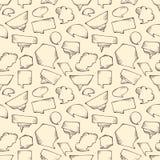 Seamless speech bubbles pattern. Stock Photos