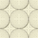 Seamless sphere pattern. For design Royalty Free Stock Photo