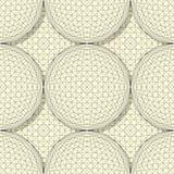 Seamless sphere pattern Royalty Free Stock Photo