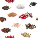 Seamless spices background Royalty Free Stock Photography