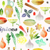 Seamless spices Royalty Free Stock Photography