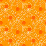 Seamless spiders and web cobs halloween background Royalty Free Stock Photography