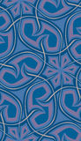 Seamless Spine Shapes. Seamless background pattern of wavy spines in blue tones Stock Photography