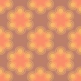 Seamless spiral flower pink pattern. Vector illustration Stock Photography