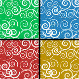 Seamless spiral modell Royaltyfria Bilder