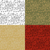 Seamless Spiral Pattern. Set of four seamless spiral backgrounds for stationery or wrapping paper Royalty Free Stock Photography