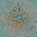 Seamless spiral pattern light blue beige light brown blurred Royalty Free Stock Image