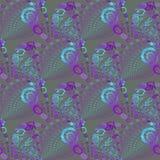 Seamless spiral pattern turquoise blue purple gray Stock Photos