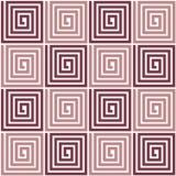Seamless spiral texture. Vector seamless spiral brown texture Stock Photography