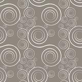 Seamless Spirals and gray brown. Vector interlocking spirals repeat tile pattern Stock Photo