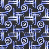 Seamless spirals pattern black purple blue white Royalty Free Stock Image