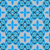 Seamless spirals pattern blue black gray Stock Image