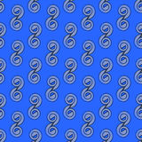 Seamless spirals pattern blue gray Stock Photography