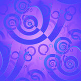 Seamless spirals pattern violet purple azure blue shiny Stock Photo