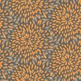 Seamless splattered fireworks pattern. Seamless splattered fireworks vector pattern in orange and grey Royalty Free Stock Image