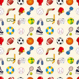 Seamless sport element pattern Stock Photos