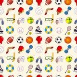 Seamless sport element pattern Stock Photos