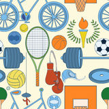 Seamless sport pattern Stock Images
