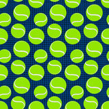 Seamless sport pattern with tennis balls. vector Stock Photos