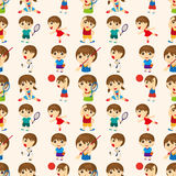 Seamless sport people pattern Royalty Free Stock Photography