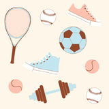 Seamless sporting goods royalty free stock photos