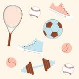 Seamless sporting goods Royalty Free Stock Photos