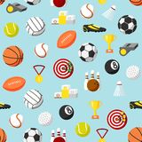 Seamless sports pattern background Stock Images