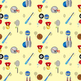 Seamless sports pattern Royalty Free Stock Image