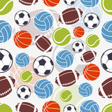 Seamless sports pattern Stock Photo