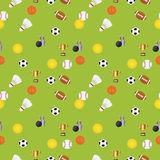 Seamless sports pattern Stock Image