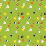 Seamless sports pattern Stock Image