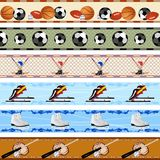 Seamless sports patterns Royalty Free Stock Photography