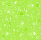 Seamless spring background. Seamless spring green background with flowers and beads Royalty Free Stock Photography