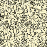 Seamless spring background with lilies Royalty Free Stock Photography