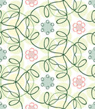 Seamless spring color hand-drawn pattern Royalty Free Stock Images