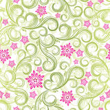 Seamless spring floral background. Illustration for your design Stock Photography