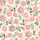 Seamless spring floral background Stock Images
