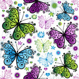 Seamless Spring Floral Pattern Stock Photo