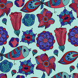 Seamless spring floral pattern Stock Images