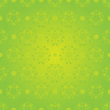 Seamless spring floral pattern on green background Royalty Free Stock Photo