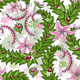 Seamless spring colorful pattern stock illustration