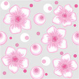 Seamless spring flower background in vector. Seamless gentle spring flower background in vector Royalty Free Stock Images
