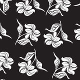 Seamless  spring flower illustration Royalty Free Stock Photography