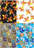 Seamless  spring flower illustration Royalty Free Stock Photo