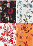 Seamless  spring flower illustration Stock Photo
