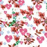Seamless  spring flower illustration Stock Images