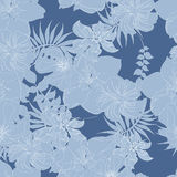 Seamless  spring flower illustration Stock Photos