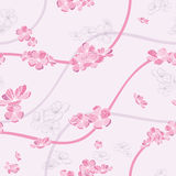 Seamless spring flower pattern Royalty Free Stock Photography