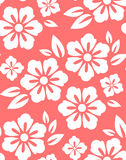 Seamless spring flower pattern on red background.  Royalty Free Stock Images