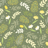 Seamless spring flower pattern vector Stock Photos